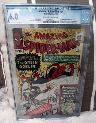 MARVEL Comics 6.0 FN SPIDERMAN SILVER age #14 1964 AMAZING CGC 1st Green gobilin