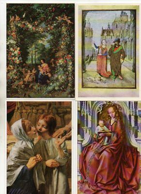 50 postcards of WORKS OF ART : RELIGOUS SUBJECTS various artists