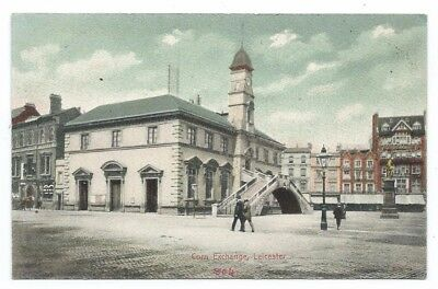 Early Colour Pc Showing The Corn Exchange In The Market Place In Leicester