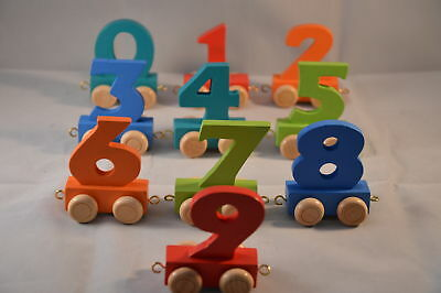 New Personalised Colourful Numbers Train Age Toy Gift Stock Legler