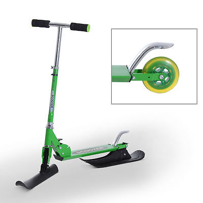 """36.2"""" Folding 2in1 Snow Scooter Snowboard Kick-Scooter Ski Scooter Green"""