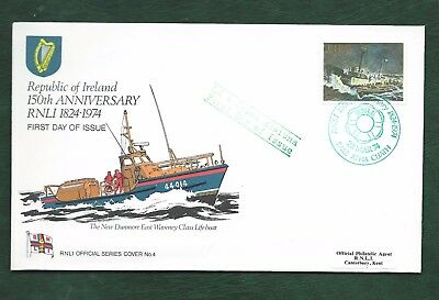 Ireland Eire 1974 150th Anniversary RNLI stamp llustrated First Day Cover FDC
