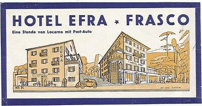 HOTEL EFRA luggage SUISSE label (FRASCO)