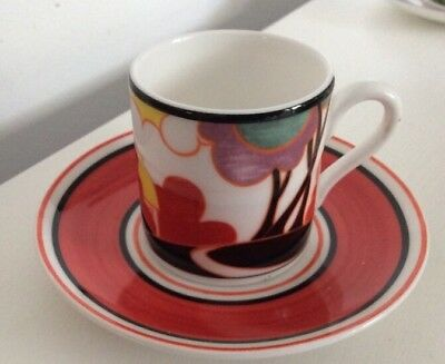 WEDGWOOD LIMITED EDITION, CLARICE CLIFF COFFEE CUP & SAUCER Autumn
