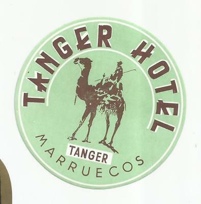 HOTEL TANGER luggage DECO label (MARRUECOS)