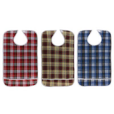 Adult Disability Mealtime Bib Cloth Protector Apron Waterproof Washable
