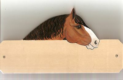 Heavy horse stable/stall/barn name plate/plaque/sign personalised gift