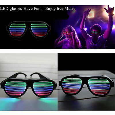 Halloween Musical Shades Sound Control Flashing LED Club Glass for Party Flash