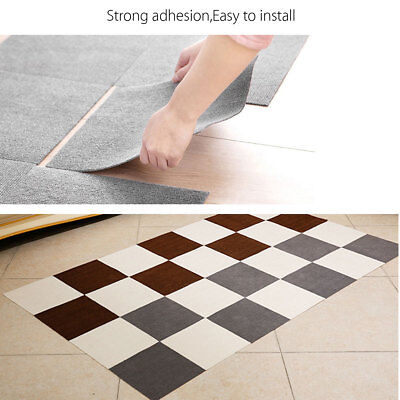 "Carpet Tile Floor Mat 12x12"" Squares Peel And Stick Adhesive Outdoor Indoor DIY"