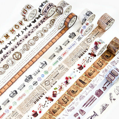 Retro European Ancient Times Washi Masking Tapes Home Decor Scrapbook DIY Craft