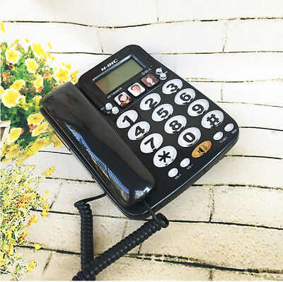 Big Button Landline Corded Phone Caller ID Desktop Home Telephone Desk Hotel AU