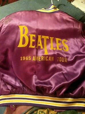 Beatles American Tour Jacket Rare Vintage 1965 Souvenir. Purple Satin. Adult Lg