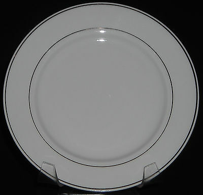 Gibson Anniversary Golden Gray Stamp Salad Plate