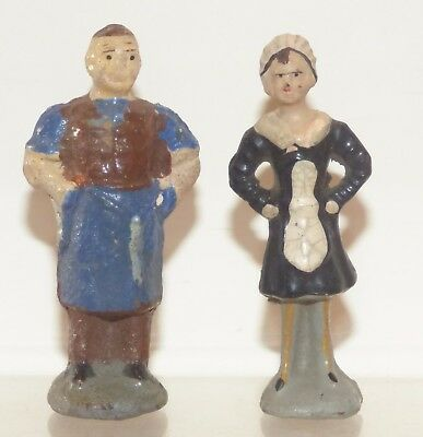 OS03 - unusual composition ? Butcher and Nippy Waitress. 67/68mm high
