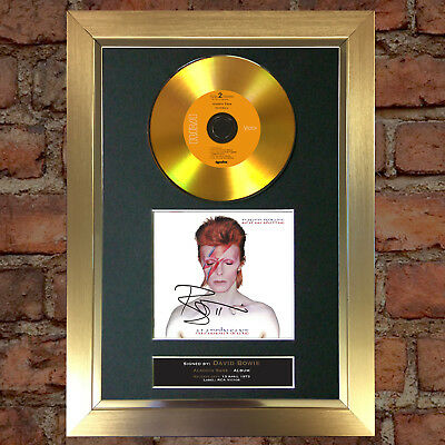 GOLD DISC DAVID BOWIE Aladdin Sane Signed Autograph Mounted Photo Repro A4 #77