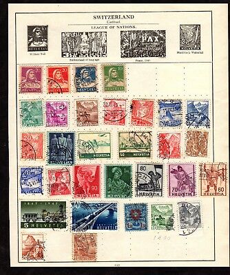 Stamps ~ SWITZERLAND SWISS HELVETIA ~ Early Unsorted