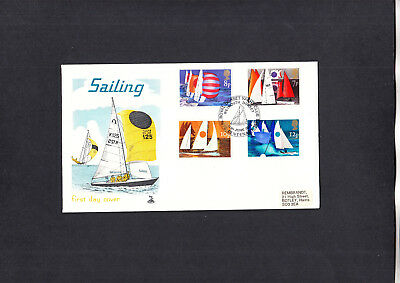 1975 Sailing Mercury FDC with Royal Dorset Yacht Club special handstamp