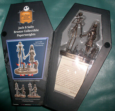 Nightmare Before Christmas Jack and Sally  NMBC - Bronze - First Limited Ed.