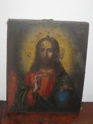 Old Painted Icon Church Interest
