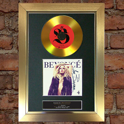 GOLD DISC BEYONCE (four) Album Signed Autograph Mounted Photo Repro A4 #85