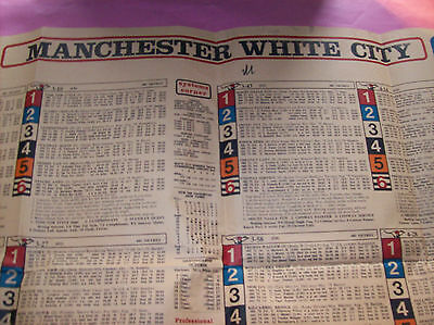 1980 White City Manchester Greyform betting shop greyhound dog racing guide form