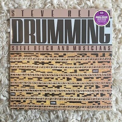 Steve Reich Drumming Sealed 2017 Analogue Edition Repress Nonesuch Mint