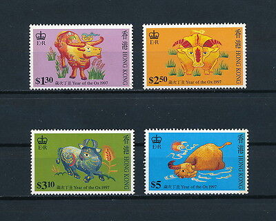 Hong Kong  780-3 MNH, Year of the Ox 1997