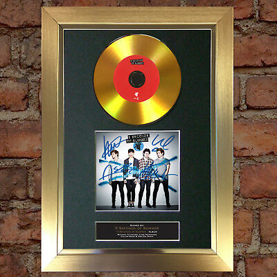 GOLD DISC 5 SECONDS OF SUMMER Album Signed Autograph Mounted Photo Repro A4 #91