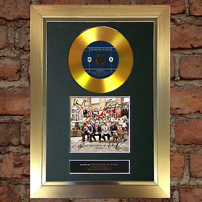 GOLD DISC MUMFORD AND SONS Album Signed Autograph Mounted Photo Repro A4 #94