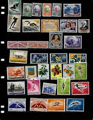 San Marino: Nice  Mint Stamp Collection Displayed On 6 Sheets.  See Scans