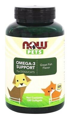 NOW Foods Pets Omega-3 Fish Oil Support for Dogs/Cats - 180 Softgels