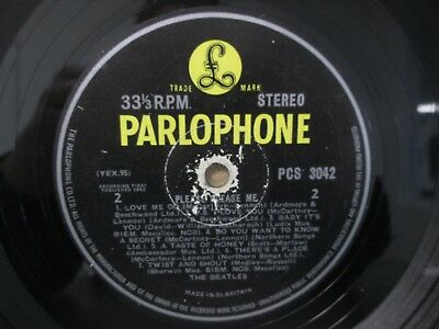 THE BEATLES- Please Please Me LP PCS 3042 Yellow (1963 UK Stereo) YEX 94-1/95-1