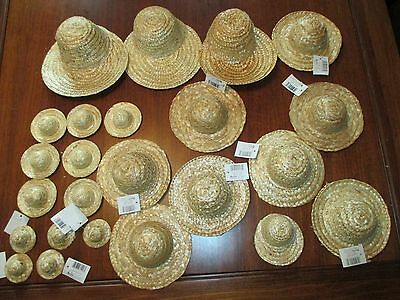 Lot Darice 24 Straw Goose Doll Craft Clothes