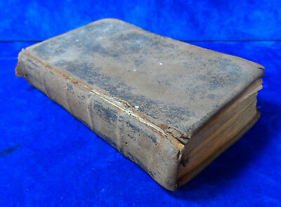 Rare Early Antique C.1752 18Th Century Common Prayer Book Leather Bound Bible