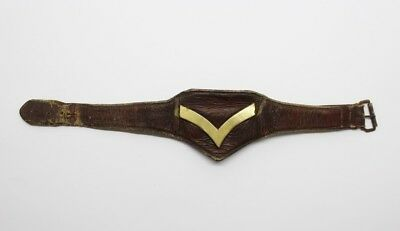 British Army Lance Corporal's Rank Leather Wrist Strap #33