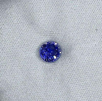 Certified Natural Medium Royal Blue Sapphire Round 1.63ct