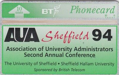 BT Phonecard, BTI069 10u AUA Sheffield 1994, mint
