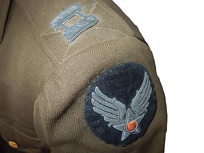 WWII CBI AAF Captain's Uniform Jacket ALL BULLION Patches Insignia Air Force