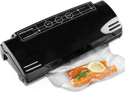 Andrew James Food Vacuum Sealer Bag Packing Machine Kitchen Storage + 15 Bags