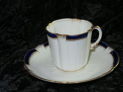 Antique Crescent Ware Bone China Cup & Saucer George Jones & Sons A2185  1900s