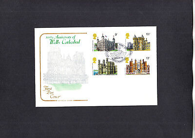 1978 Historic Buildings Wells Cathedral 800th Anniversary Cotswold Official FDC
