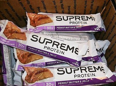50 Supreme Protein Peanut Butter & Jelly 30 Grams High Protein Bars Low Carb N/r