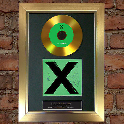 GOLD DISC ED SHEERAN X Album Signed Autograph Mounted Repro A4 #112