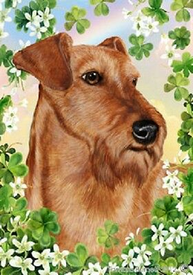 Garden Indoor/Outdoor Clover Flag - Irish Terrier 312201