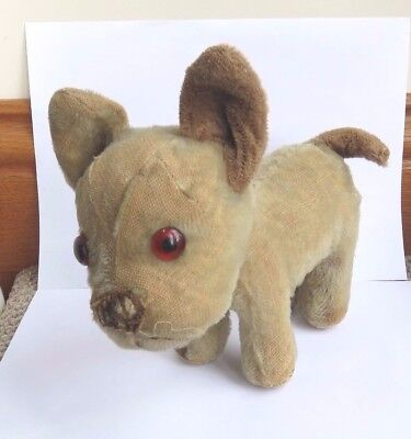 Antique Vintage Merrythought Booboo De Boo French Bulldog Soft Toy Frenchie