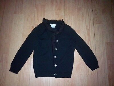 Crewcuts Little Girls Black Ruffled Tulle Sweater Size 3