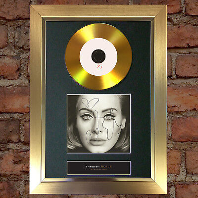 GOLD DISC ADELE 25 Album Cd Signed Autograph Mounted Repro A4 #117