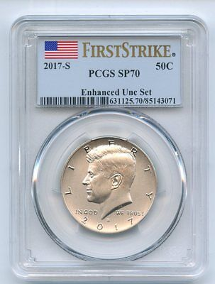 2017 S 50C Kennedy Half Dollar Enhanced PCGS SP70 First Strike