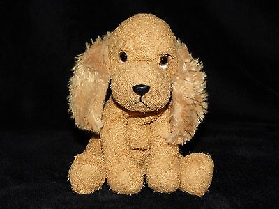 Russ Berrie Dudley Puppy Dog Soft Toy Brown Cocker Spaniel Comforter Doudou