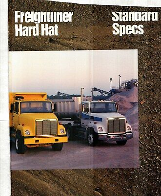 1986-87 Freightliner Hard Hat Dump Truck Deluxe Color Sales Catalog